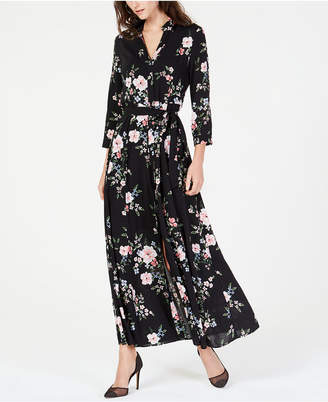 INC International Concepts I.N.C. Printed Maxi Shirtdress, Created for Macy's