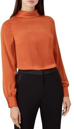 Hobbs London Jacqueline Roll-Collar Top