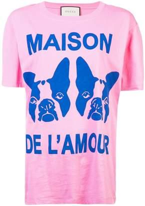 Gucci French Bulldog oversized T-shirt