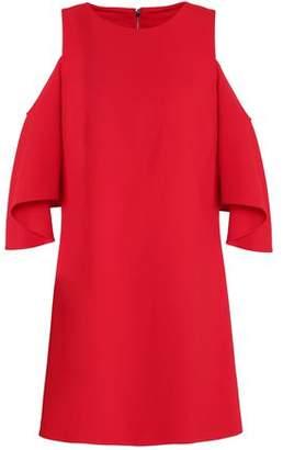 Alice + Olivia Coley Cold-Shoulder Crepe Mini Dress