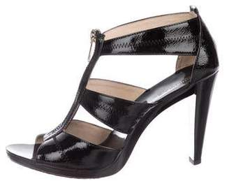 MICHAEL Michael Kors Patent Leather High Heel Sandals