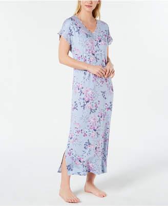 d5f925adba5 Charter Club Lace-Trimmed Printed Soft Knit Nightgown