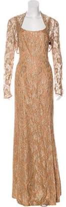 Carmen Marc Valvo Evening Dress Set w/ Tags