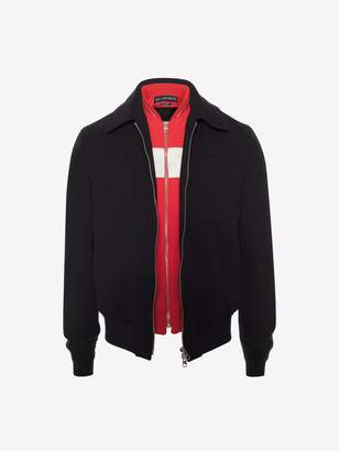 Alexander McQueen Satin Bib Jacket