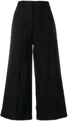 Christian Wijnants cropped patchwork trousers