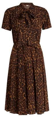 Masscob Delon Leopard Print Silk Midi Dress - Womens - Leopard