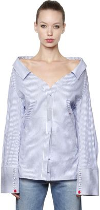 Off The Shoulder Cotton Poplin Shirt $665 thestylecure.com