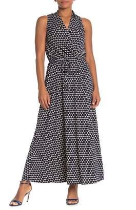 WEST KEI Surplice Dotted Maxi Dress