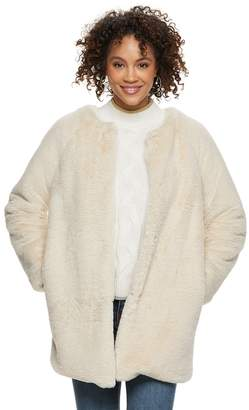 Popsugar Women's POPSUGAR Faux-Fur Coat