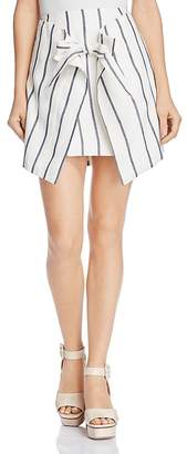 C/Meo Collective Diffuse Striped Tie-Front Mini Skirt