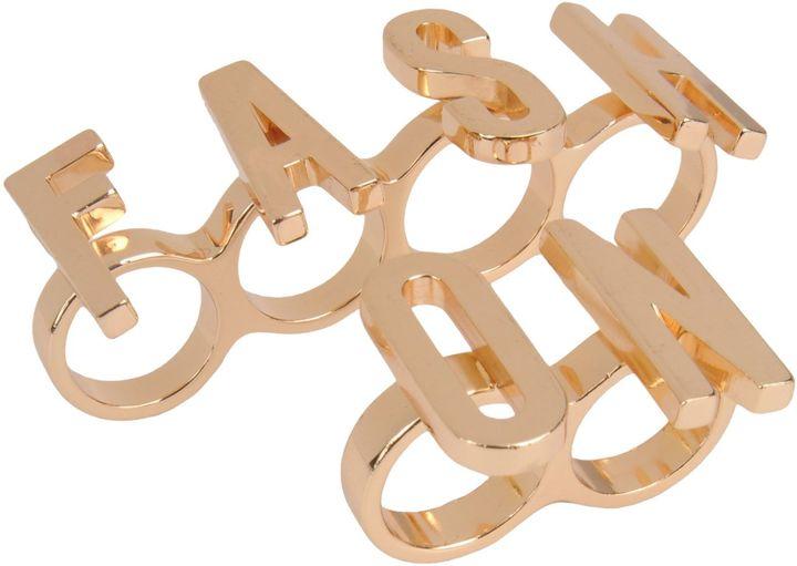 MoschinoMOSCHINO COUTURE Rings