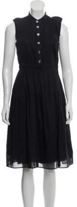Burberry Sleeveless Midi Dress Navy Sleeveless Midi Dress
