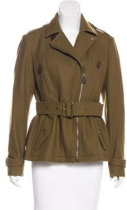 Burberry Asymmetrical Wool Jacket