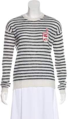 Zoe Karssen Embroidered Striped Top