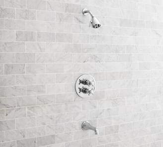Pottery Barn Warby Thermostatic Cross-Handle Bathtub & Shower Faucet Set