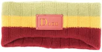 Christian Dior Pre-Owned Rasta-Colour neck warmer