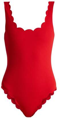 Marysia Swim Palm Springs scallop-edged swimsuit