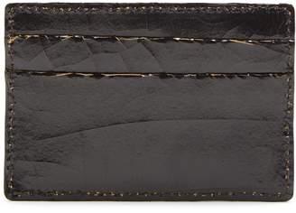 Marc Marmel Logo-debossed cracked-leather cardholder