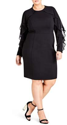 City Chic Chic City Romantic Sleeve Sheath Dress