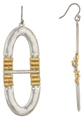 Lucky Brand Two-Tone Oval Drop Earrings