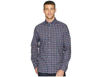 Nautica Long Sleeve Wear to Work Classic Plaid Woven Shirt