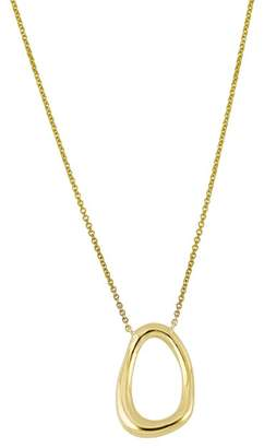 Bony Levy 14K Yellow Gold Organic Open Circle Pendant Necklace
