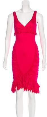 Ungaro Fuchsia Sleeveless Midi Dress