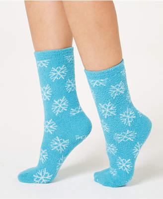 Charter Club Snowflake Fuzzy Cozy Socks, Created for Macy's