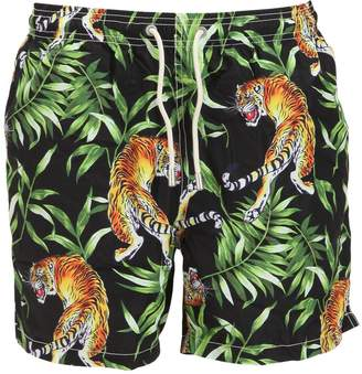 MC2 Saint Barth Tiger Leaves Micro Fiber Swim Shorts