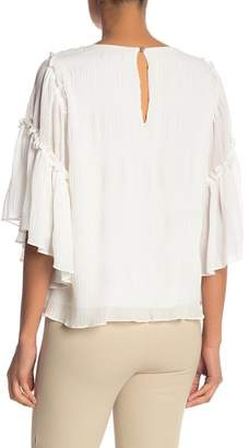 1 STATE 1.State Flounce Ruffle Sleeve Blouse