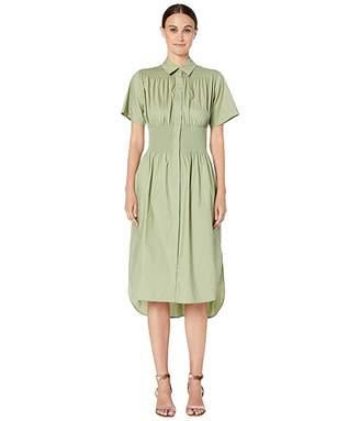 Sportmax Tirolo Cotton Gathered Waist Dress