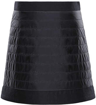 Moncler Quilted Skirt w/ Wool-Trim, Size 8-14