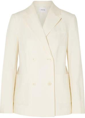 Frame Linen-blend Blazer - White