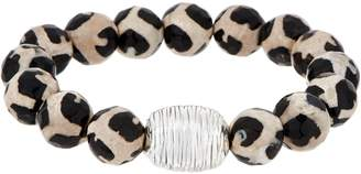 Simon Sebbag Sterling Silver & Gemstone Stretch Bracelet