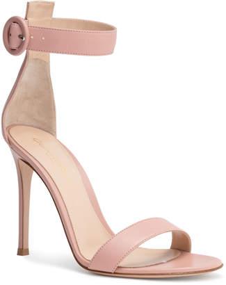 Gianvito Rossi Portofino 105 Dusty Pink Leather Sandals