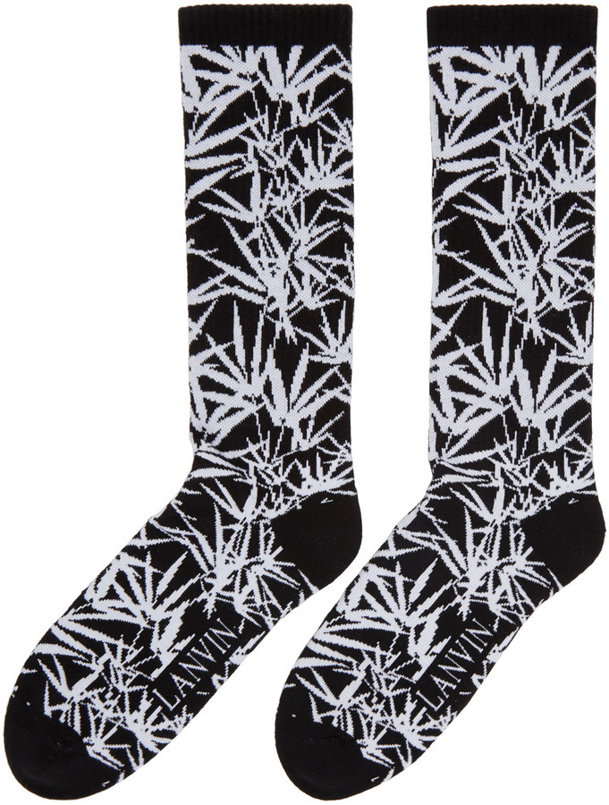 Lanvin Black Jacquard Socks 2