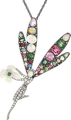 Betsey Johnson GBG) Fairy Forest Fairy Pendant Long Necklace