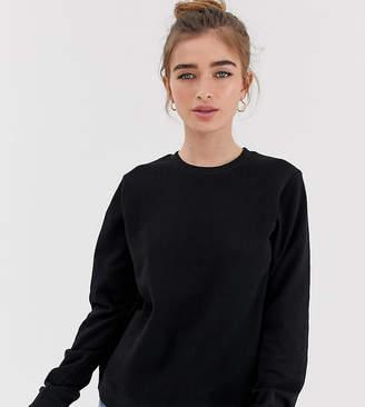 Asos DESIGN Petite ultimate sweatshirt in black