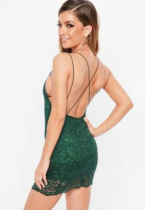 Missguided Green Lace Dress