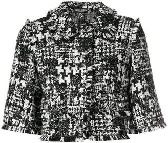 Dolce & Gabbana tweed cropped jacket