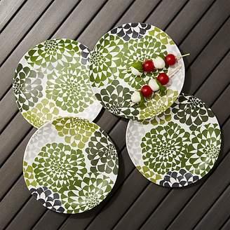 Dahlia Melamine Flower Plates, Set of 4