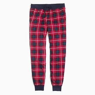 J.Crew Flannel lounge pant in red check