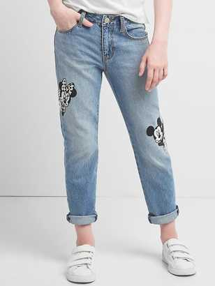 GapKids | Disney Mickey Mouse and Minnie Mouse girlfriend jeans $54.95 thestylecure.com