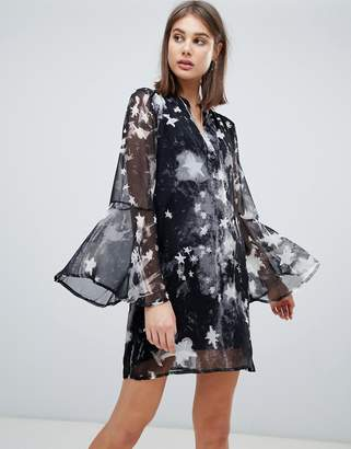 Religion revolution printed tunic dress