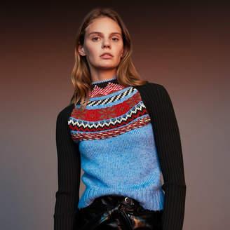 Maje Novelty jacquard knit sweater