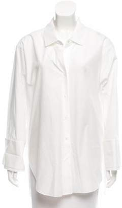 Halston Long Sleeve Button-Up Top w/ Tags