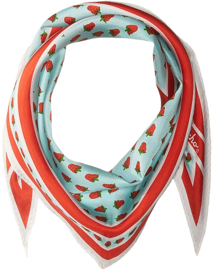 Echo Design - Strawberry Silk Diamond Scarf Scarves
