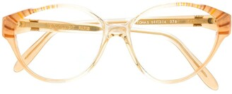 Saint Laurent Pre-Owned 1990s round glasses