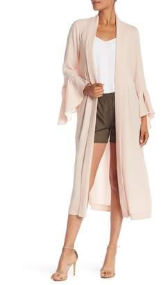 BCBGMAXAZRIA Ruffle Sleeve Robe Jacket