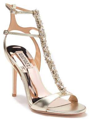 dbf7fbc597c4 Badgley Mischka Gold Heel Strap Women s Sandals - ShopStyle